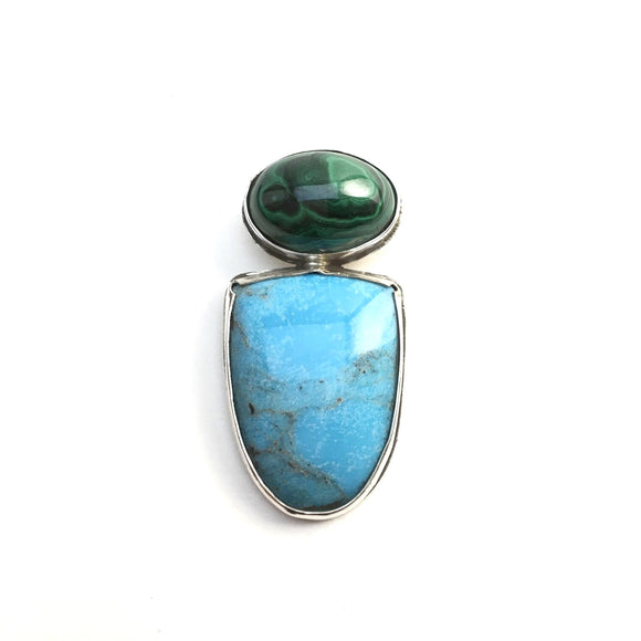 Nacazari Turquoise and Malachite Pendant