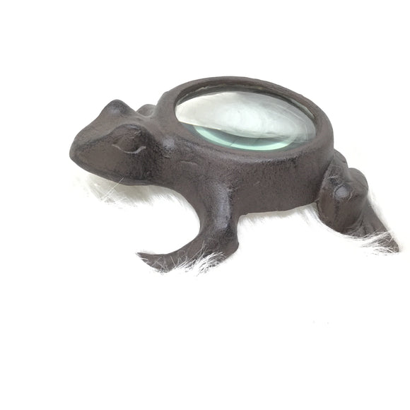 Cast Iron Frog Tabletop Magnifying Glass