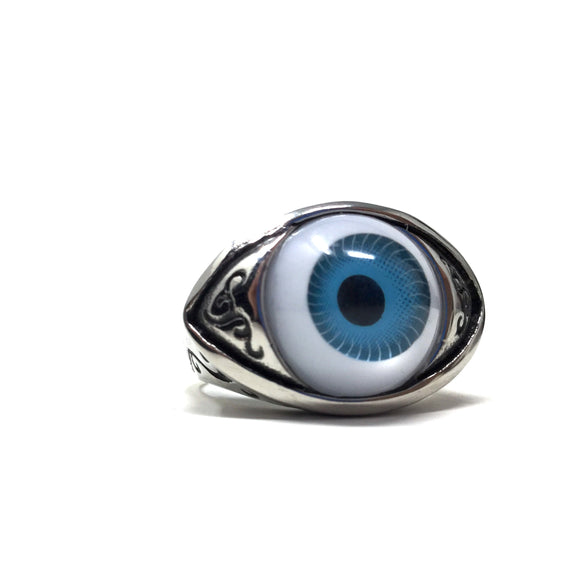 Stainless Steel Eyeball Ring, size 12