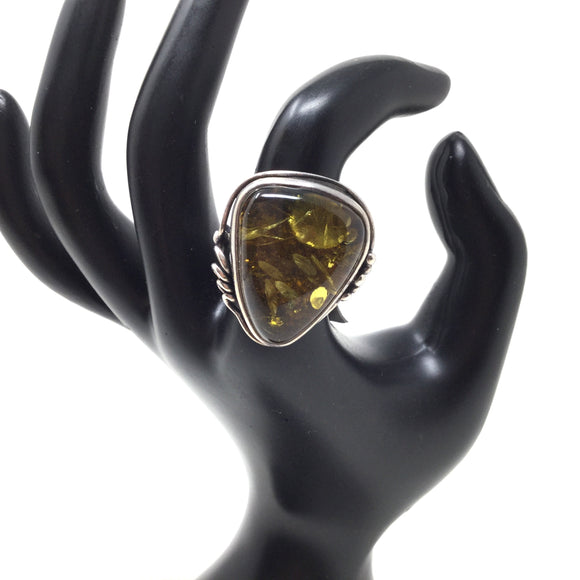 Amber Ring, size 8