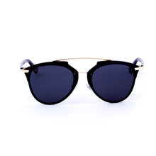 Load image into Gallery viewer, Gold/Black Rimless Aviator - Escape Society