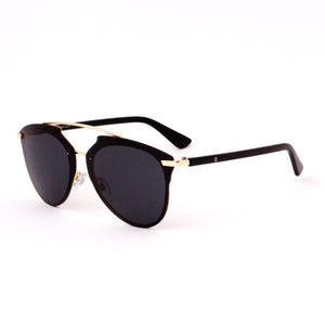 Gold/Black Rimless Aviator - Escape Society