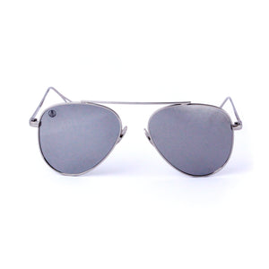 Silver With Flash Mirror Lense Single Bridge Aviator - Escape Society