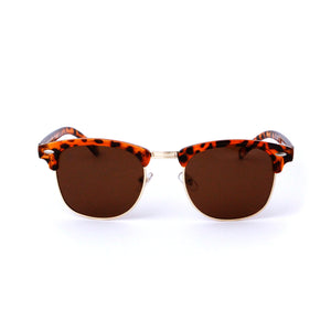 Tortoise Shell Trim Retro Round Lens - Escape Society
