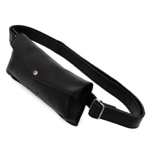 Load image into Gallery viewer, Black Leather Travel Belt Bag - Escape Society