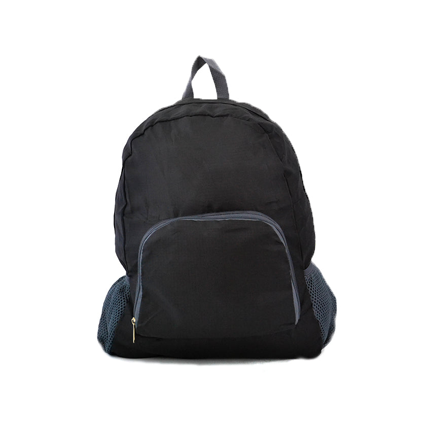 Black Outdoor Nylon Backpack