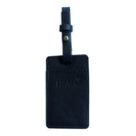 Black Utility Leather Luggage Tag