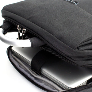 Black Double Sleeve Laptop Backpack - Escape Society