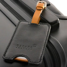 Load image into Gallery viewer, Black Peep-Out Genuine Leather Luggage Tag - Escape Society