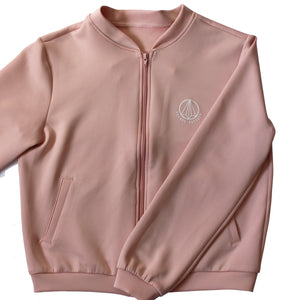 Dusty Pink Cove Luxe Bomber Jacket