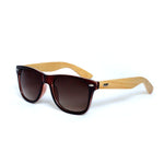 Tortoise Shell Squared Off Retro Frame With Bamboo Temple