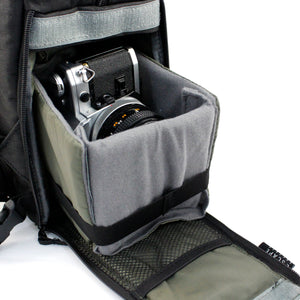 Black DLSR Camera Backpack - Escape Society