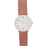 Gold 40mm Case With Dusty Pink Leather Strap