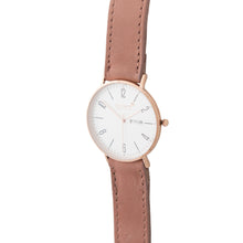 Load image into Gallery viewer, Gold 40mm Case With Dusty Pink Leather Strap - Escape Society