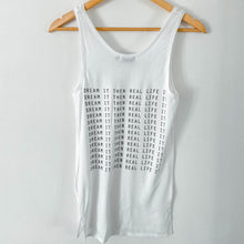 "Load image into Gallery viewer, White Trail ""Dream It"" Slogan Tank Top"