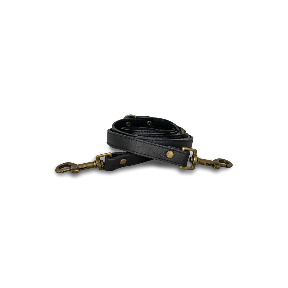 Black Wag Multi-Function Leather Leash Online