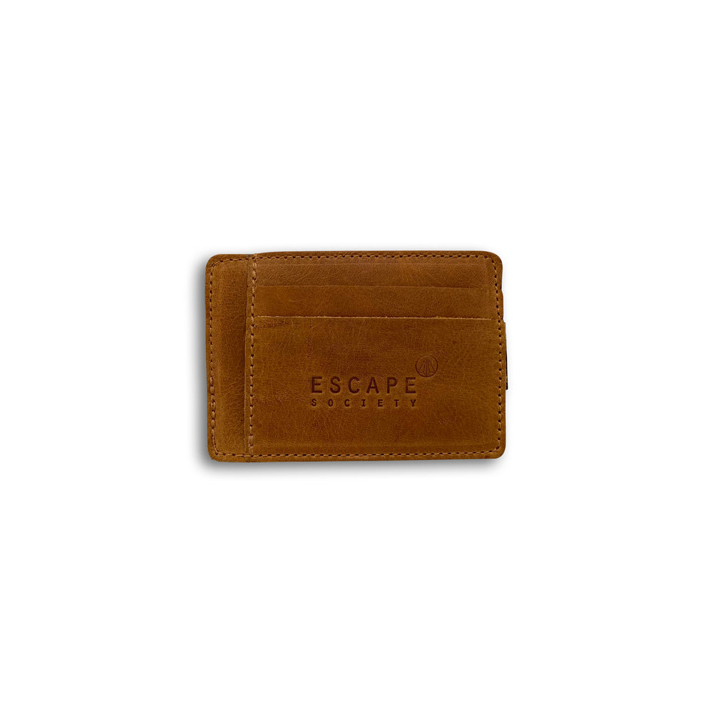Tan Clipa Leather Card Holder