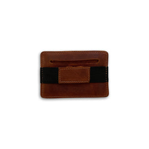 Chocolate Brown Clipa Leather Card Holder
