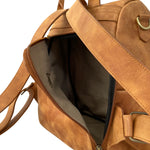 Tan Pioneer Anti-Theft Leather Backpack
