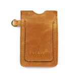 Tan Leather Lanyard Card Holder - Escape Society