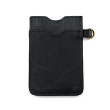 Load image into Gallery viewer, Black Leather Lanyard Card Holder - Escape Society