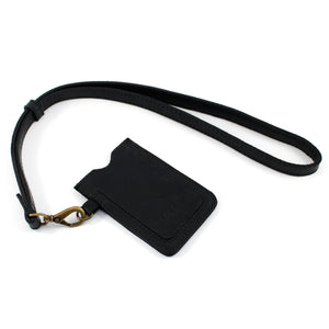 Black Leather Lanyard Card Holder - Escape Society