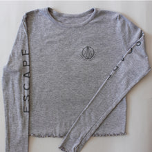 Load image into Gallery viewer, Grey Long Sleeve Cropped Tee