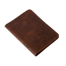 Load image into Gallery viewer, Chocolate Brown Genuine Leather Passport Holder