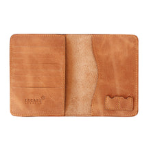 Load image into Gallery viewer, Tan Genuine Leather Passport Holder