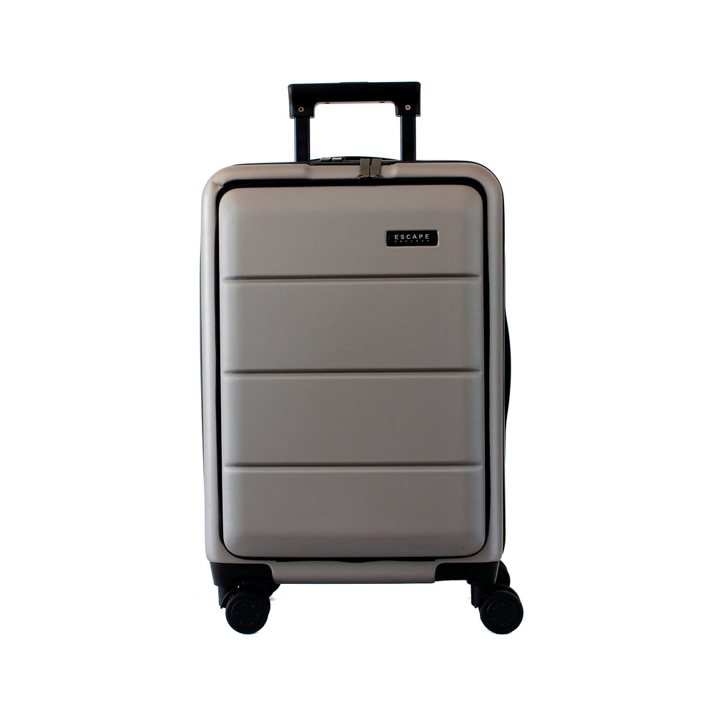 Grey Carry-On with Front Loading Laptop Pocket - Escape Society