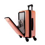 Dusty Pink Carry-On with Front Loading Laptop Pocket - Escape Society