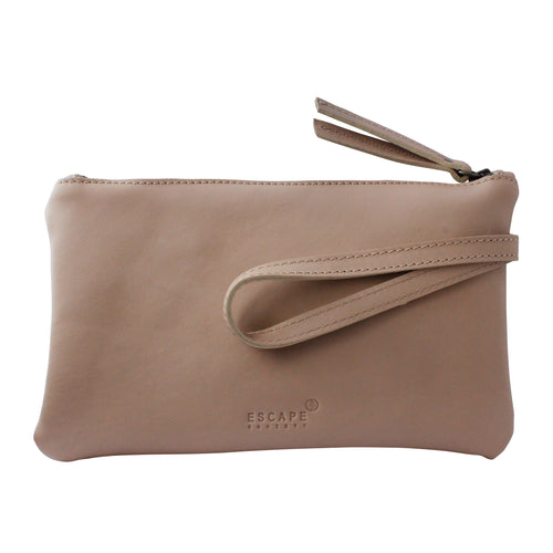 Nude Genuine Leather Travel Wallet - Escape Society