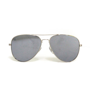 Silver Metal Aviator With Flash Mirror Lens - Escape Society