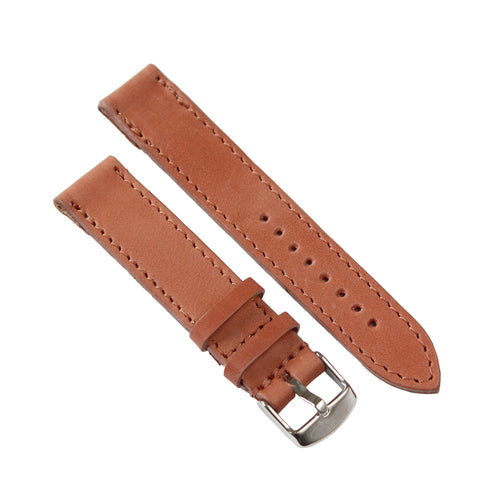 Dusty Pink Genuine Leather 40mm Watch Strap with Silver Buckle - Escape Society