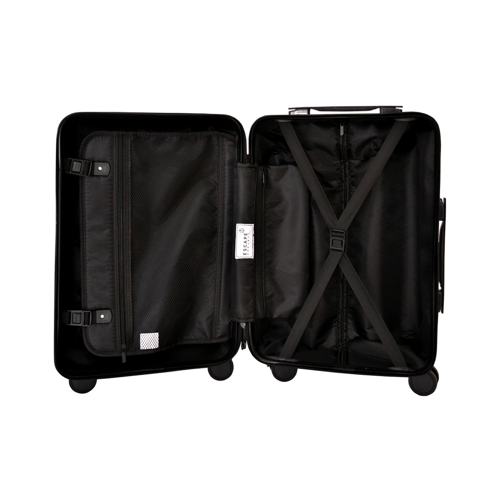 Matte Black Carry-On Suitcase - Escape Society