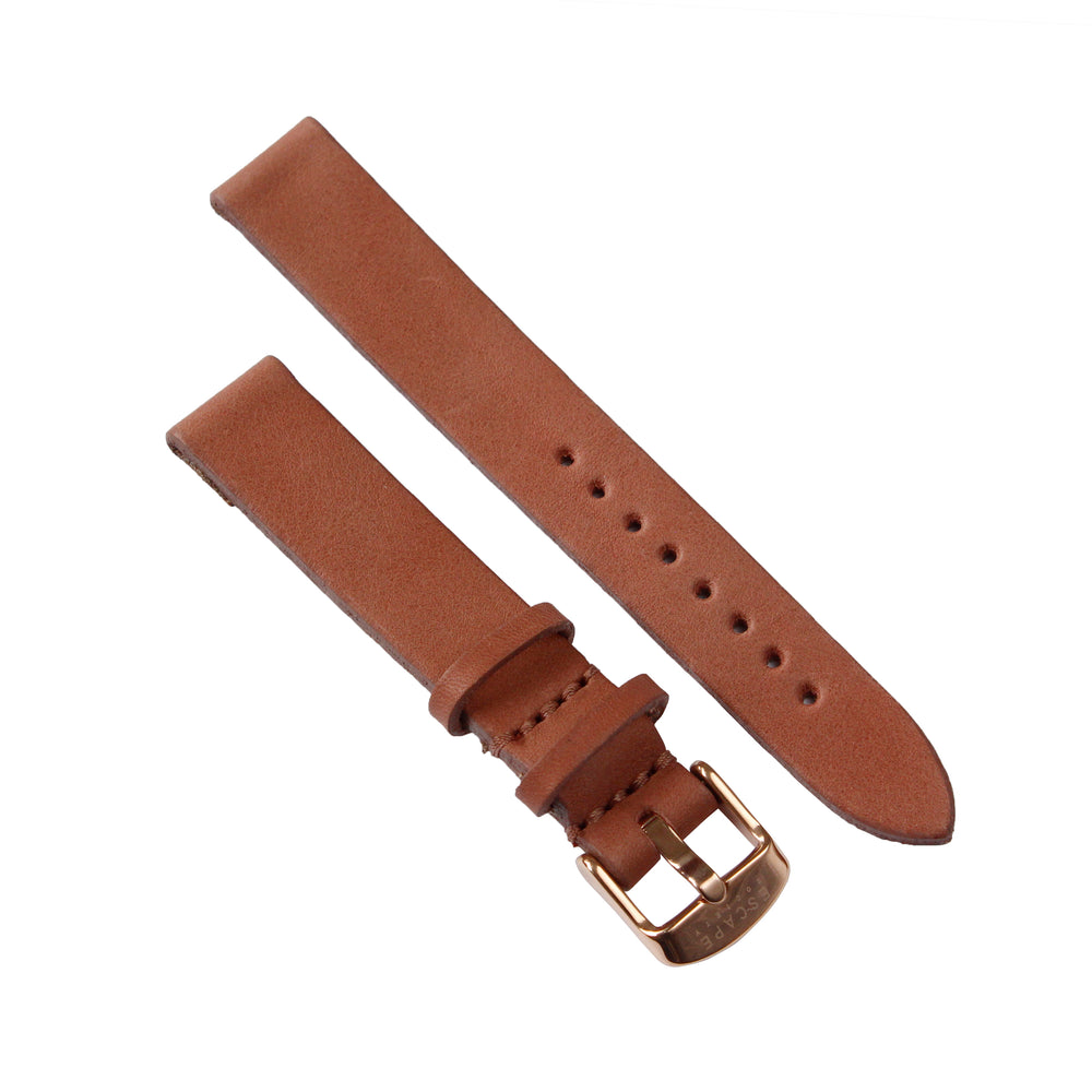 Dusty Pink Genuine Leather 36mm Watch Strap with Gold Buckle - Escape Society