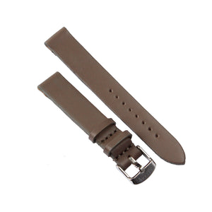 Mushroom Genuine Leather 36mm Watch Strap with Silver Strap - Escape Society