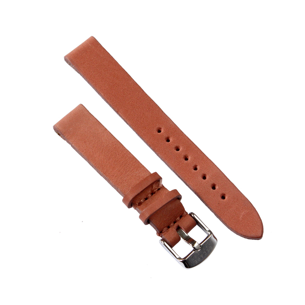 Dusty Pink Genuine Leather 36mm Watch Strap with Silver Buckle - Escape Society