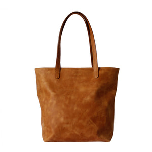 Drifter Tan Leather Tote