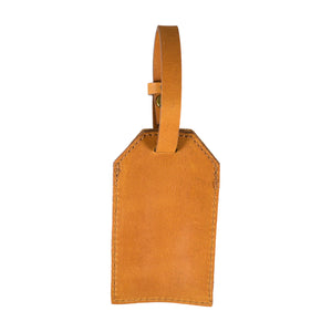 Tan Genuine Leather Luggage Tag