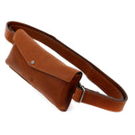Tan Leather Travel Belt Bag