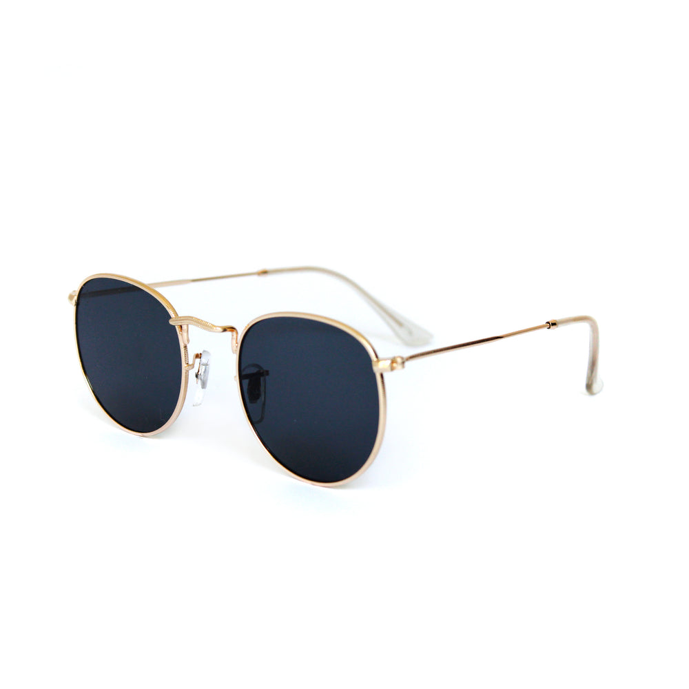 Gold Vintage Round Lens With Metal Frame