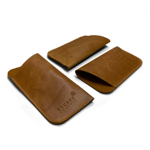 Tan Leather Sunglass Sleeve
