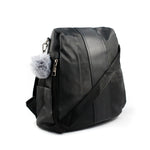 Black Anti-Theft Nylon Backpack