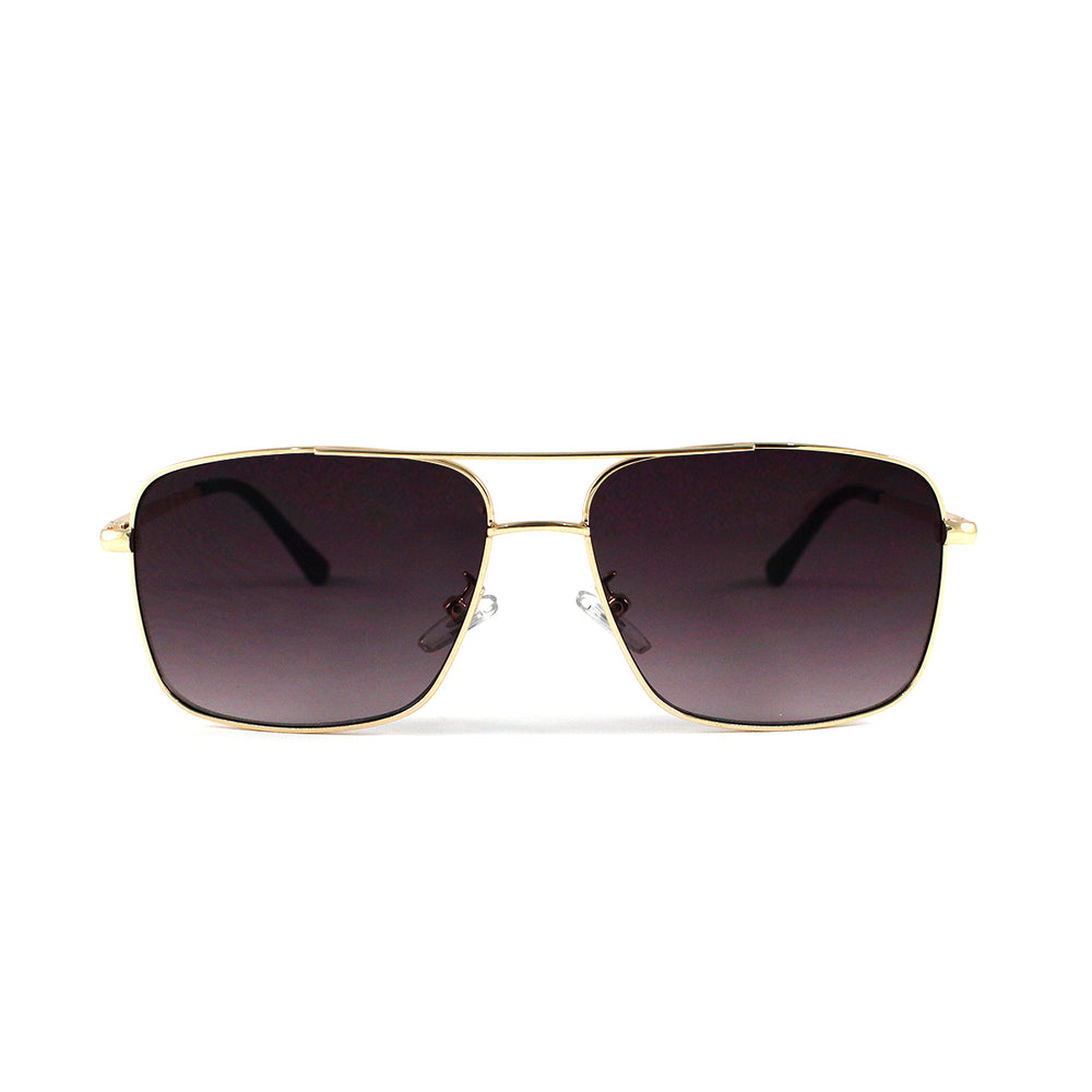 Square Metal Frame Aviator With Smoke Lens - Escape Society