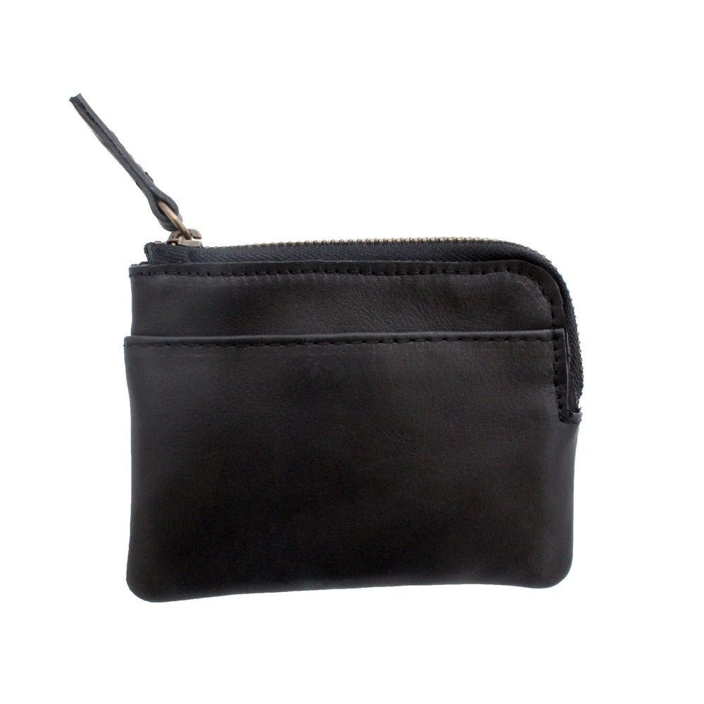 Black Leather Coin And Card Pouch - Escape Society