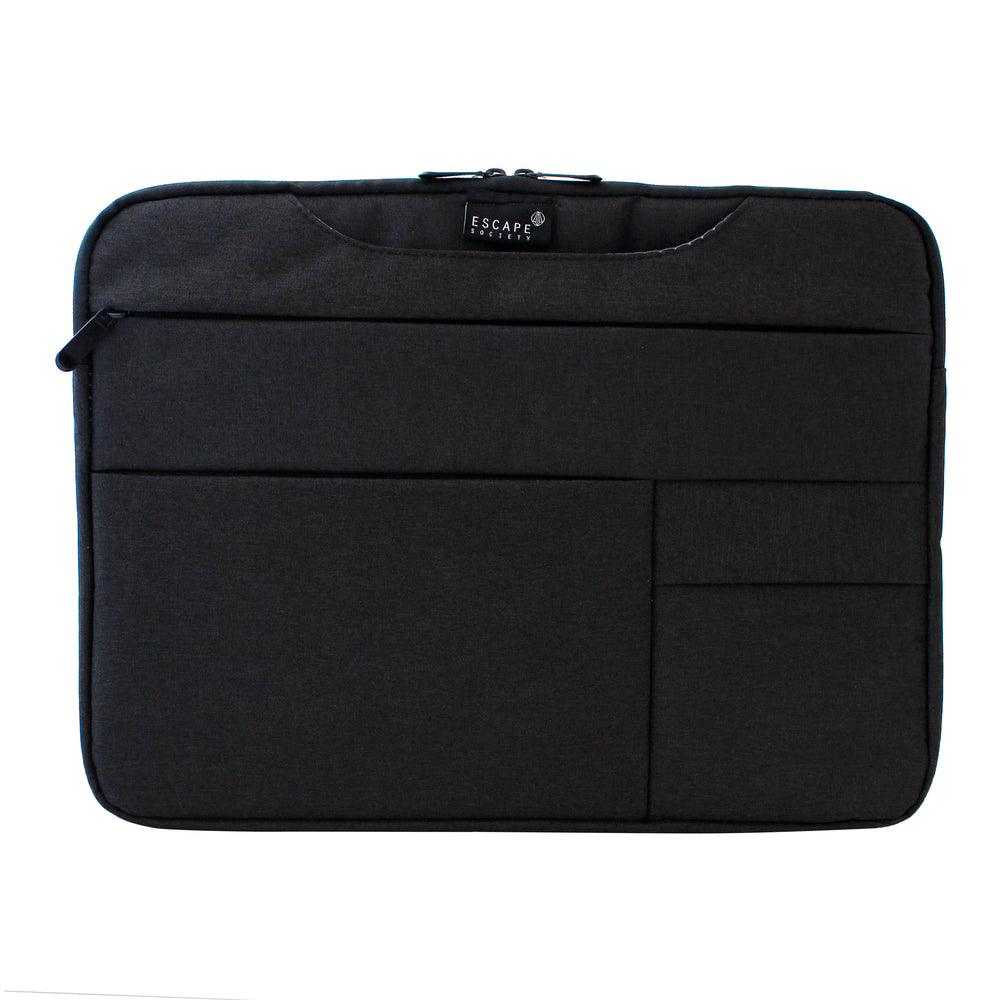 Black 15 Inch Multi Compartment Laptop Folio