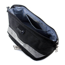 Load image into Gallery viewer, Charcoal Double-Deck Toiletry Bag - Escape Society