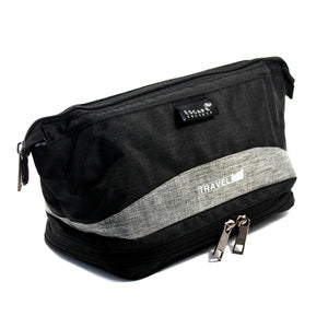 Charcoal Double-Deck Toiletry Bag - Escape Society
