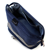 Load image into Gallery viewer, Blue Double-Deck Toiletry Bag - Escape Society